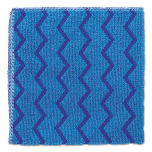 Rubbermaid HYGEN Microfiber Cleaning Cloths, 16 x 16, Blue, 12/Carton (RCP Q620 BLU)