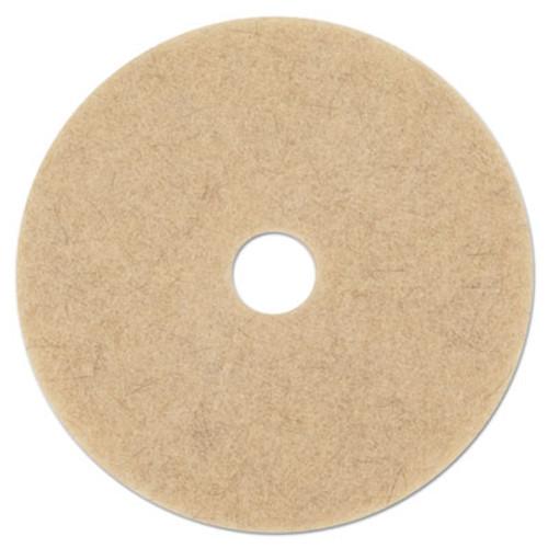 "Boardwalk Ultra High-Speed Low Burnish Floor Pads, 17"" Diameter, Champagne, 5/Carton (PAD 4017 ULT)"