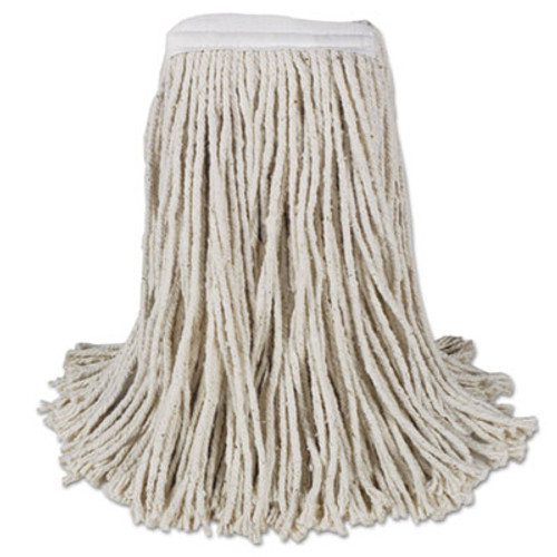Boardwalk Mop Head, Cotton, Cut-End, White, 4-Ply, #16 Band, 12/Carton (BWK CM02016S)
