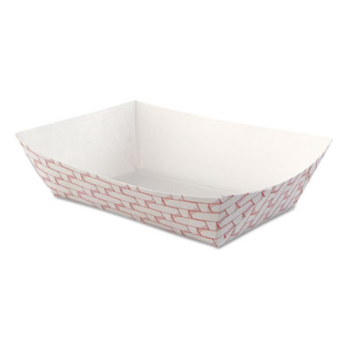 Boardwalk Paper Food Baskets, 2.5lb Capacity, Red/White, 500/Carton (BWK 30LAG250)