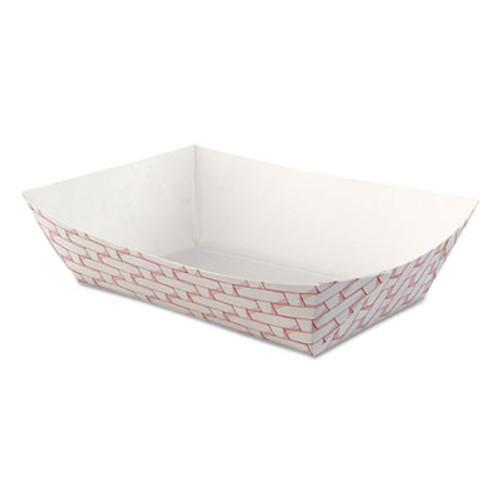 Boardwalk Paper Food Baskets, 2.5lb Capacity, Red/White, 500/Carton (BWK 30LAG250)