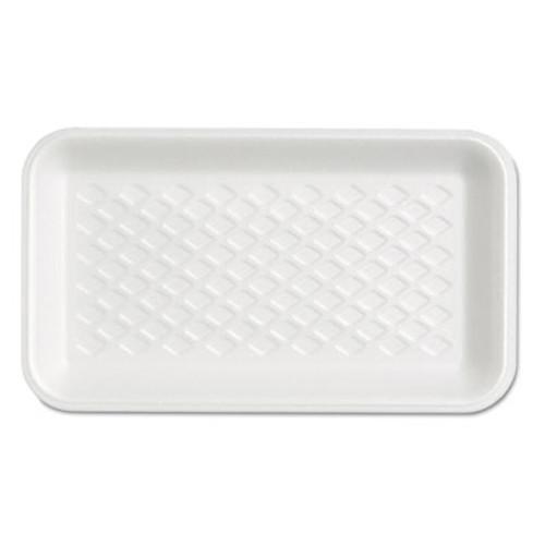 Genpak Supermarket Tray, Foam, White, 8-1/4x4-3/4x5/8, 125/Bag (GNP W1017S)