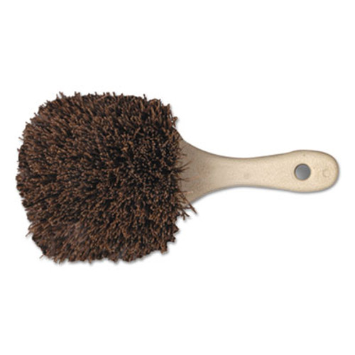 "Boardwalk Palmyra Bristle Utility Brush, Plastic, 8 1/2"", Tan Handle (BWK 4108)"