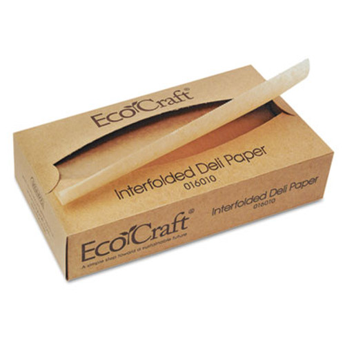 Bagcraft EcoCraft Interfolded Soy Wax Deli Sheets, 10 x 10 3/4, 500/Box, 12 Boxes/Carton (BGC 016010)