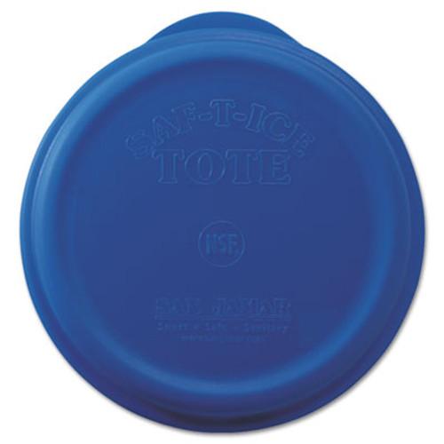 San Jamar Saf-T-Ice Tote Snap-Tight Lid, Blue (SAN SI6500)