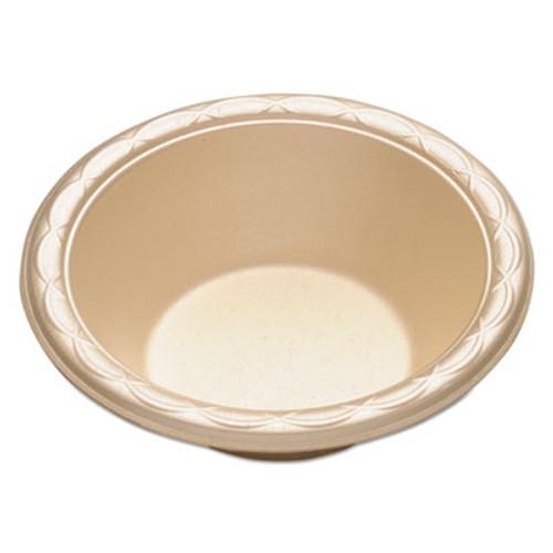 "Dispoz-o Enviroware Foam Dinnerware, Bowl, 6"", 12oz, Wheat, 250/Pack, 4 Packs/Carton (DZO GFB6)"
