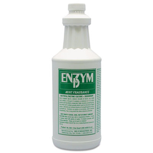 Big D Industries Enzym D Digester Deodorant, Mint, 1qt, Bottle, 12/Carton (BGD 504)