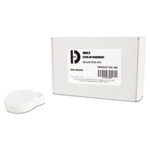 Big D Industries Mini D Stick-Up Deodorant, Mountain Air, 2.5oz, Dispenser, 12/Carton (BGD 608)