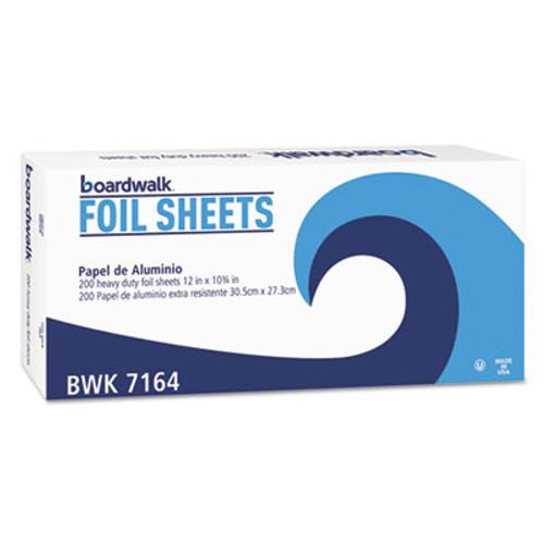 Boardwalk Pop-Up Aluminum Foil Sheets, 12 x 10 3/4, Silver, 2400/Carton (BWK 7164)