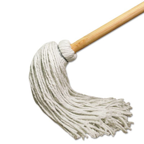 Boardwalk Deck Mop w/51 in. Wooden Handle, 12 oz. Rayon Fiber Head, 6/Pack (UNS 112R)