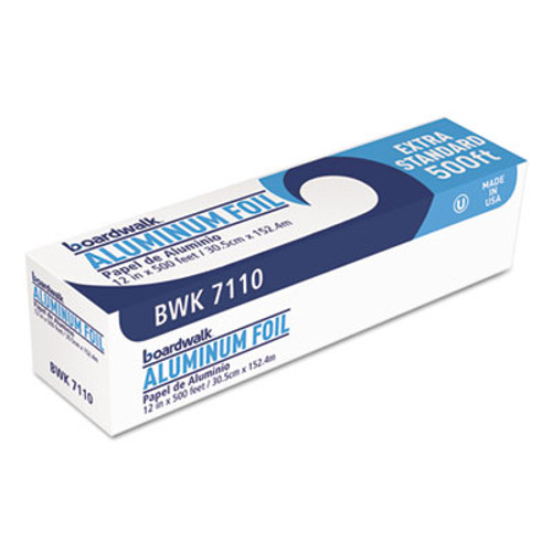 "Boardwalk Premium Quality Aluminum Foil Roll, 12"" x 500 ft, 16 Micron Thickness, Silver (BWK 7110)"