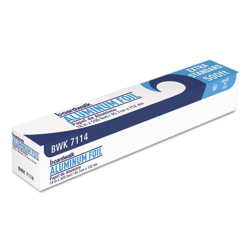 "Boardwalk Premium Quality Aluminum Foil Roll, 18"" x 500 ft, 16 Micron Thickness, Silver (BWK 7114)"
