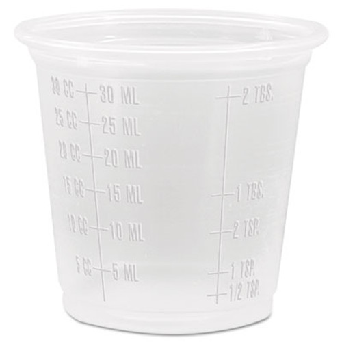 Dart Conex Complements Graduated Plastic Portion Cups, 1.25oz, Translucent, 2500/CT (DCC 125PCG)