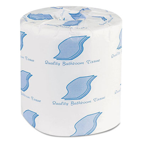 GEN Bathroom Tissues, 2-Ply, White, 500 Sheets/Roll, 96 Rolls/Carton (GEN 201)