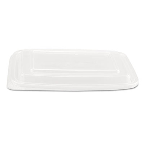 Genpak Microwave Safe Container Lid, Plastic, Fits 24-32 oz, Rectangular, Clear, 75/Bag (GNP FPR932)