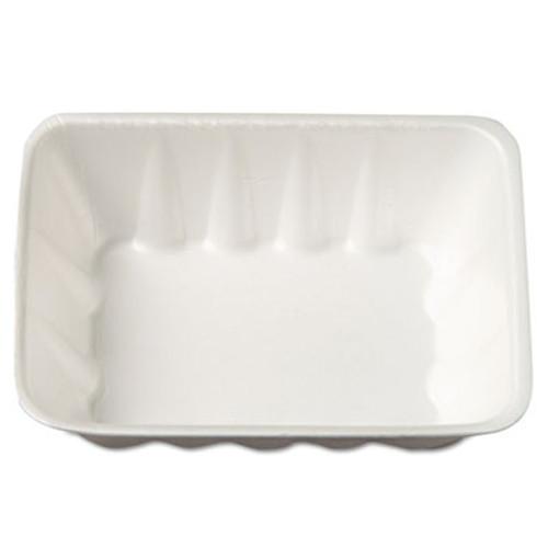 Genpak Supermarket Tray, Foam, White, 8-5/8x6-1/2x2-2/5, 63/Bag, 4 Bags/Carton (GNP 42WH)