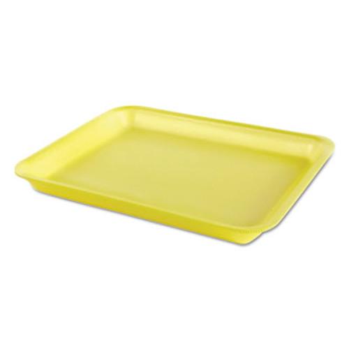 Genpak Processor/Heavy Supermarket Tray, Yellow, 10-1/2x8-1/4x1-1/8, 100/Bag, 4/CT (GNP TR08PYL)