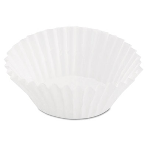 Dixie Paper Fluted Baking Mini Cups, Dry-Waxed, 3-1/2, White, 20/Pack (DXE8AAX)