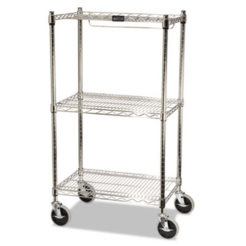 Rubbermaid ProSave Shelf Ingredient Bin Cart, Two-Shelf, 26w x 18d x 47 3/4h, Chrome (RCP 9G59)