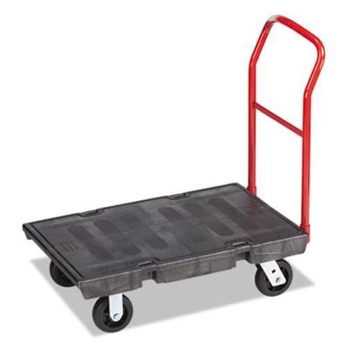 "Rubbermaid Heavy-Duty Platform Truck Cart, 500 lb Capacity, 24"" x 36"" Platform, Black (RCP 4403 BLA)"
