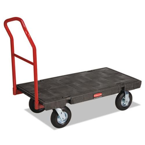 "Rubbermaid Heavy-Duty Platform Truck Cart, 1200lb Capacity, 24"" x 48"" Platform, Black (RCP 4436-10 BLA)"