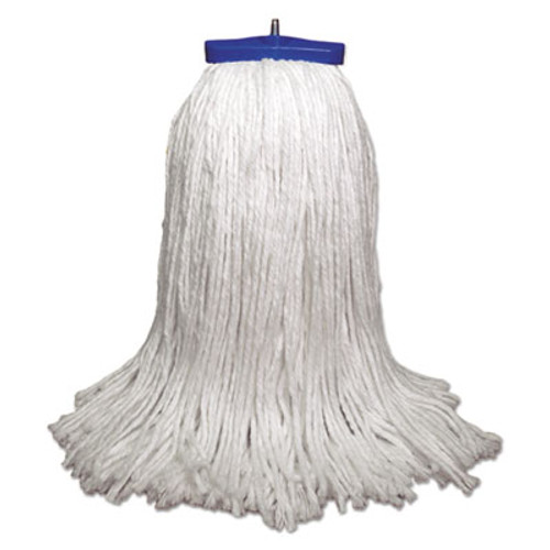 Boardwalk Mop Head, Economical Lie-Flat Head, Rayon Fiber, 32-Oz., White, 12/Carton (UNS 732R)