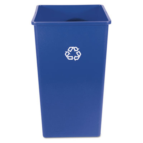 Rubbermaid Recycling Container, Square, Plastic, 50 gal, Blue (RCP 3959-73 BLU)