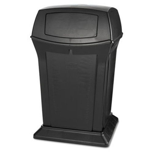 Rubbermaid Ranger Fire-Safe Container, Square, Structural Foam, 45 gal, Black (RCP 9171-88 BLA)