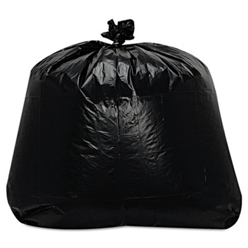 Trinity Packaging Low-Density Can Liners, 1.6mil, 56gal, 23w x 20d x 47h, Black, 100/Carton (TRN ML4347X)