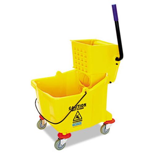 Flo-Pac Side-Press Bucket/Wringer Combo, 8.75 gal, Yellow (CFS3690404)