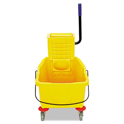 Flo-Pac Side-Press Bucket/Wringer Combo, 8.75 gal, Yellow (CFS3690404)