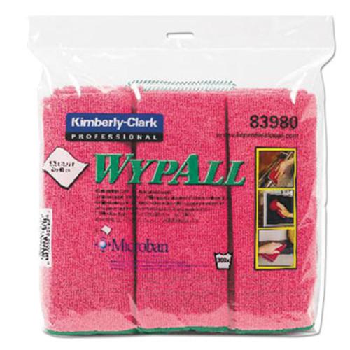 WypAll* Microfiber Cloths, Reusable, 15 3/4 x 15 3/4, Red, 6/PK, 4 PK/CT (KCC 83980)