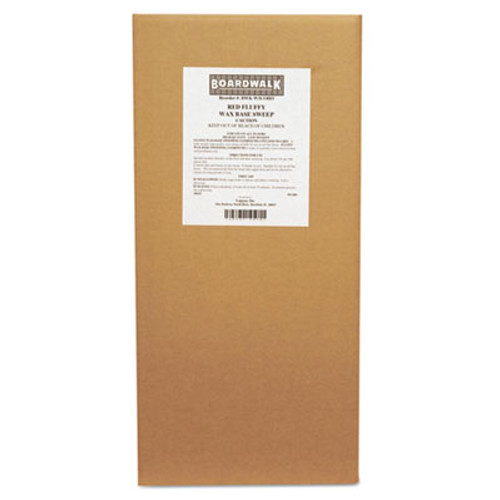 Boardwalk Blended Wax-Based Sweeping Compound, Red, Grit-Free, 50lbs, Box (BWK W3COHO)