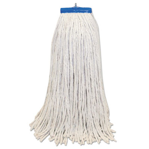 Boardwalk Mop Head, Lie-Flat Head, Cotton Fiber, 24oz., White, 12/Carton (BWK CM22024)