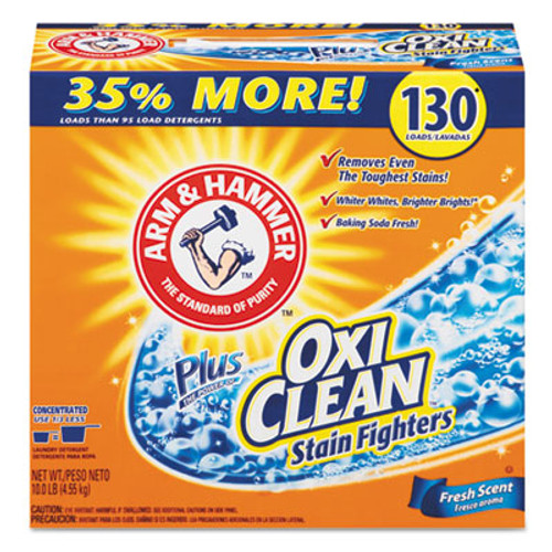 Arm & Hammer Power of OxiClean Powder Detergent, Fresh, 9.92lb Box, 3/Carton (CDC 33200-06510)