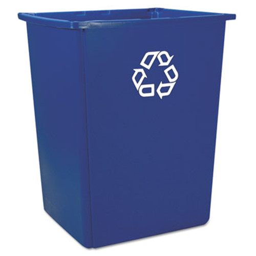 Rubbermaid Glutton Recycling Container, Rectangular, 56 gal, Blue (RCP 256B-73 BLU)