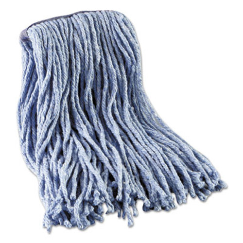 Boardwalk Mop Head, Standard Head, Cotton/Synthetic Fiber, Cut-End, #16., Blue (UNS 2016B)