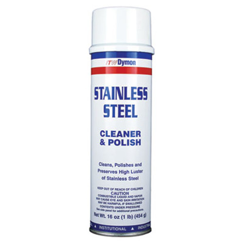 Dymon Stainless Steel Cleaner, 16oz, Aerosol, 12/Carton (DYM 20920)