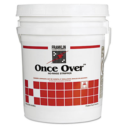 Franklin Cleaning Technology Once Over Floor Stripper, Mint Scent, Liquid, 5 gal. Pail (FRK F200026)