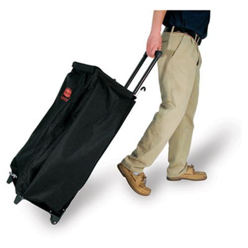 Rubbermaid Mobile Fabric Cleaning Cart Bag, 30 gal, 18 1/2w x 11d x 35h, Black (RCP 6174 BLA)