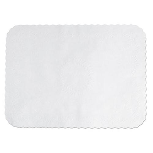 Hoffmaster Anniversary Embossed Scalloped Edge Tray Mat, 14 x 19, White, 1000/Carton (HFM TC8704472)