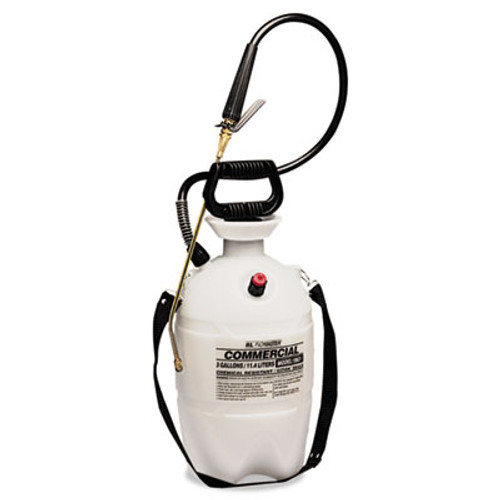 R. L. Flomaster Commercial-Grade Sprayer w/Flat Fan Nozzle, 3 Gallon, Polyethylene, White/Black (RLF 1963VI)