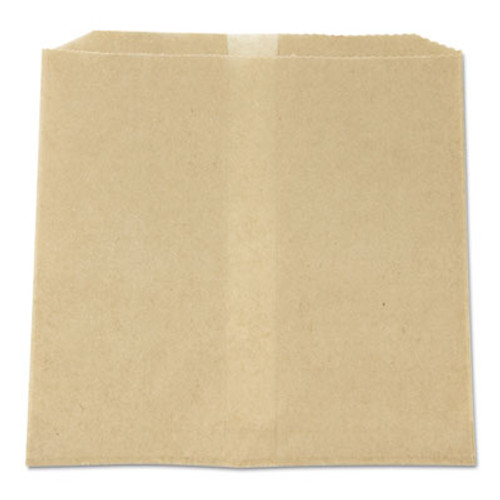 HOSPECO Waxed Napkin Receptacle Liners, 8 x 7 x 8, Brown, 500/Case (HOS 6802W)