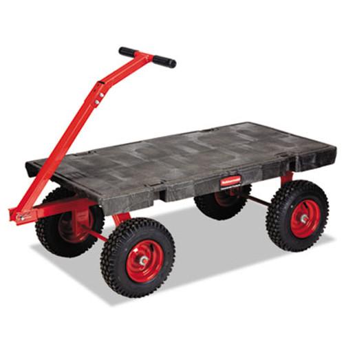 Rubbermaid Fifth-Wheel Wagon Truck, 2000-lb Cap, 24-1/4w x 56-1/4d x 17-1/2h, Black (RCP 4477 BLA)