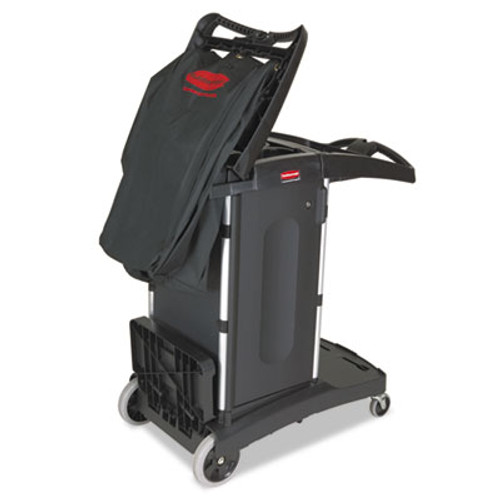 Rubbermaid Commercial Compact Folding Housekeeping Cart, 22w x 51 3/4d x 44h, Black (RCP 9T76)