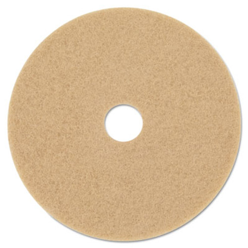 "3M Ultra High-Speed Floor Burnishing Pads 3400, 27"" Diameter, Tan, 5/Carton (MCO 20322)"