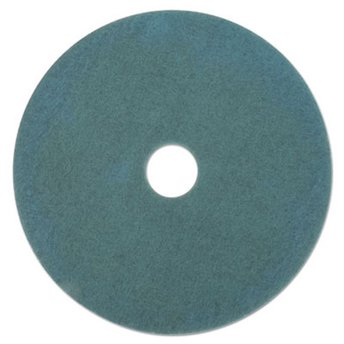 "3M Ultra High-Speed Floor Burnishing Pads 3100, 27"" Diameter, Aqua, 5/Carton (MCO 20264)"