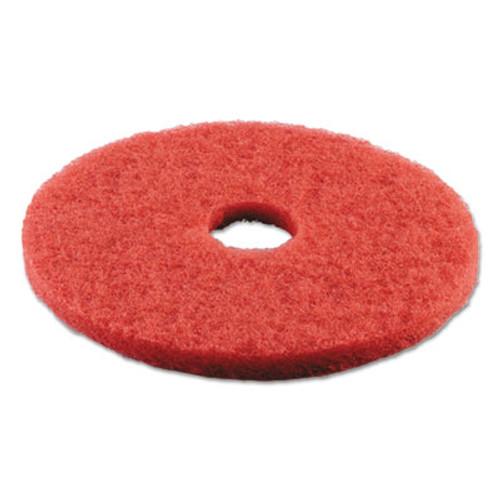 "Boardwalk Standard Buffing Floor Pads, 18"" Diameter, Red, 5/Carton (PAD 4018 RED)"
