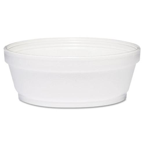 Dart Foam Container, 8 oz, White, Squat, 500/Carton (DCC 8SJ32)