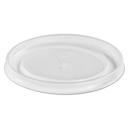 Chinet Plastic High Heat Vented Lid, Fits 16-32 oz, White, 50/Bag, 10/Bags Carton (HUH 89112)
